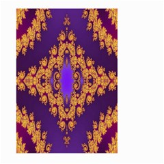 Something Different Fractal In Orange And Blue Large Garden Flag (Two Sides) by Simbadda