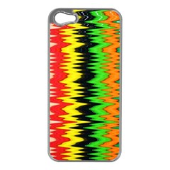 Colorful Liquid Zigzag Stripes Background Wallpaper Apple Iphone 5 Case (silver) by Simbadda