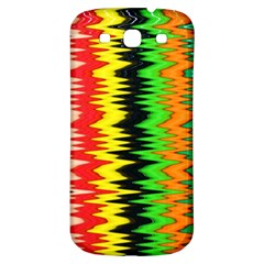 Colorful Liquid Zigzag Stripes Background Wallpaper Samsung Galaxy S3 S Iii Classic Hardshell Back Case by Simbadda