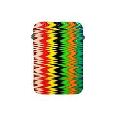 Colorful Liquid Zigzag Stripes Background Wallpaper Apple Ipad Mini Protective Soft Cases by Simbadda