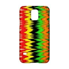 Colorful Liquid Zigzag Stripes Background Wallpaper Samsung Galaxy S5 Hardshell Case  by Simbadda