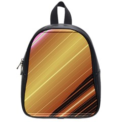 Diagonal Color Fractal Stripes In 3d Glass Frame School Bags (small)  by Simbadda