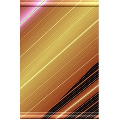 Diagonal Color Fractal Stripes In 3d Glass Frame 5.5  x 8.5  Notebooks by Simbadda