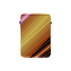 Diagonal Color Fractal Stripes In 3d Glass Frame Apple Ipad Mini Protective Soft Cases by Simbadda