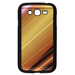 Diagonal Color Fractal Stripes In 3d Glass Frame Samsung Galaxy Grand Duos I9082 Case (black) by Simbadda