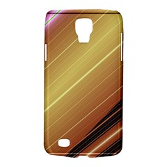 Diagonal Color Fractal Stripes In 3d Glass Frame Galaxy S4 Active by Simbadda