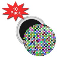 Colorful Dots Balls On White Background 1 75  Magnets (10 Pack)  by Simbadda