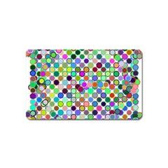 Colorful Dots Balls On White Background Magnet (name Card) by Simbadda