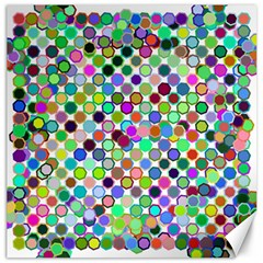 Colorful Dots Balls On White Background Canvas 20  X 20   by Simbadda