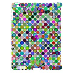 Colorful Dots Balls On White Background Apple Ipad 3/4 Hardshell Case (compatible With Smart Cover) by Simbadda
