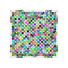 Colorful Dots Balls On White Background Acrylic Tangram Puzzle (4  X 4 ) by Simbadda