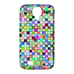 Colorful Dots Balls On White Background Samsung Galaxy S4 Classic Hardshell Case (pc+silicone) by Simbadda