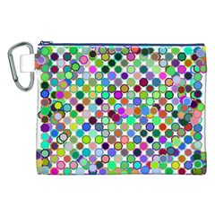 Colorful Dots Balls On White Background Canvas Cosmetic Bag (xxl) by Simbadda