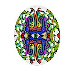 Abstract Shape Doodle Thing Oval Filigree Ornament (two Sides) by Simbadda