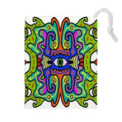 Abstract Shape Doodle Thing Drawstring Pouches (extra Large) by Simbadda