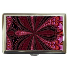 Red Ribbon Effect Newtonian Fractal Cigarette Money Cases by Simbadda