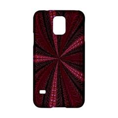 Red Ribbon Effect Newtonian Fractal Samsung Galaxy S5 Hardshell Case  by Simbadda