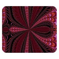 Red Ribbon Effect Newtonian Fractal Double Sided Flano Blanket (small)  by Simbadda