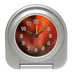 Background Technical Design With Orange Colors And Details Travel Alarm Clocks by Simbadda