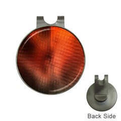 Background Technical Design With Orange Colors And Details Hat Clips With Golf Markers by Simbadda