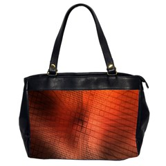 Background Technical Design With Orange Colors And Details Office Handbags (2 Sides)  by Simbadda