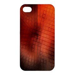 Background Technical Design With Orange Colors And Details Apple Iphone 4/4s Premium Hardshell Case by Simbadda