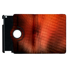 Background Technical Design With Orange Colors And Details Apple Ipad 3/4 Flip 360 Case by Simbadda