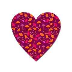 Umbrella Seamless Pattern Pink Lila Heart Magnet by Simbadda
