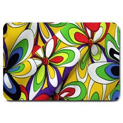 Colorful Textile Background Large Doormat  by Simbadda