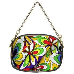 Colorful Textile Background Chain Purses (one Side)  by Simbadda