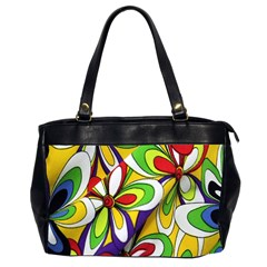 Colorful Textile Background Office Handbags (2 Sides)  by Simbadda
