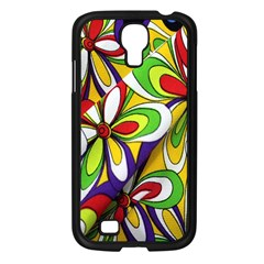 Colorful Textile Background Samsung Galaxy S4 I9500/ I9505 Case (black) by Simbadda
