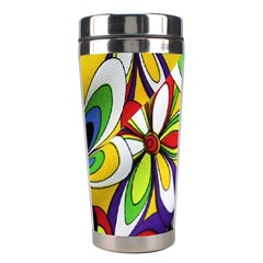 Colorful Textile Background Stainless Steel Travel Tumblers by Simbadda
