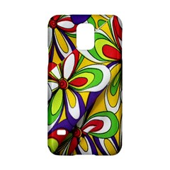 Colorful Textile Background Samsung Galaxy S5 Hardshell Case  by Simbadda