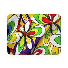 Colorful Textile Background Double Sided Flano Blanket (mini)  by Simbadda