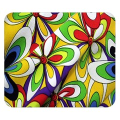 Colorful Textile Background Double Sided Flano Blanket (small)  by Simbadda