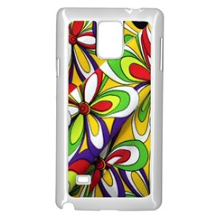 Colorful Textile Background Samsung Galaxy Note 4 Case (white) by Simbadda