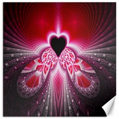 Illuminated Red Hear Red Heart Background With Light Effects Canvas 20  X 20   by Simbadda