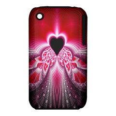 Illuminated Red Hear Red Heart Background With Light Effects Iphone 3s/3gs by Simbadda
