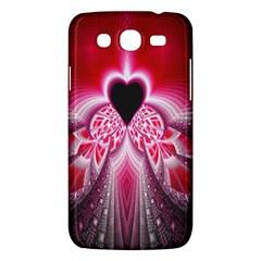 Illuminated Red Hear Red Heart Background With Light Effects Samsung Galaxy Mega 5 8 I9152 Hardshell Case  by Simbadda
