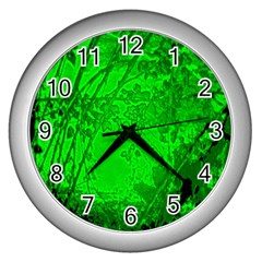 Leaf Outline Abstract Wall Clocks (silver)  by Simbadda