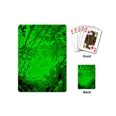 Leaf Outline Abstract Playing Cards (mini)  by Simbadda
