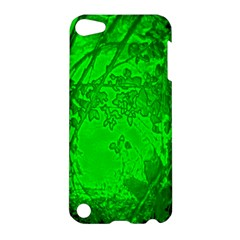 Leaf Outline Abstract Apple Ipod Touch 5 Hardshell Case by Simbadda