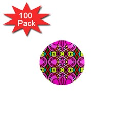 Colourful Abstract Background Design Pattern 1  Mini Magnets (100 Pack)  by Simbadda