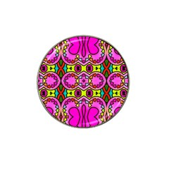 Colourful Abstract Background Design Pattern Hat Clip Ball Marker (4 Pack) by Simbadda