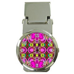 Colourful Abstract Background Design Pattern Money Clip Watches by Simbadda