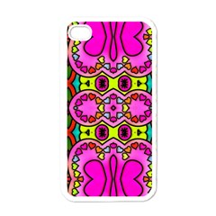Colourful Abstract Background Design Pattern Apple Iphone 4 Case (white) by Simbadda