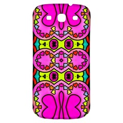 Colourful Abstract Background Design Pattern Samsung Galaxy S3 S Iii Classic Hardshell Back Case by Simbadda