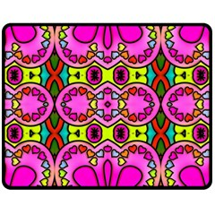 Colourful Abstract Background Design Pattern Double Sided Fleece Blanket (medium)  by Simbadda