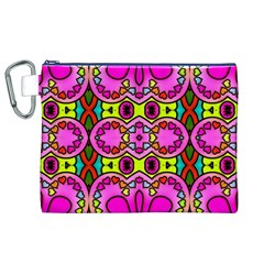 Colourful Abstract Background Design Pattern Canvas Cosmetic Bag (xl) by Simbadda